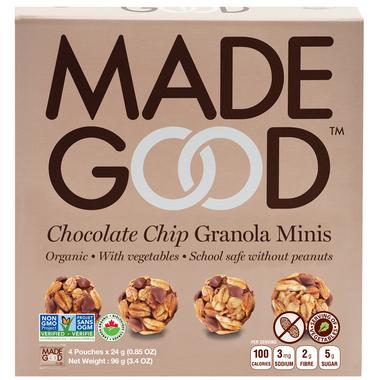 MadeGood Chocolate Chip Organic Granola Minis
