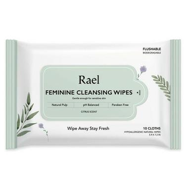 Rael Natural Flushable Feminine Cleansing Wipes