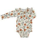 Loulou Lollipop Long Sleeve Bodysuit in Tencel Flower Vine