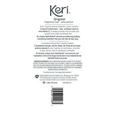 Keri Moisturizing Body Lotion Skin Therapy Fragrance Free 900 mL