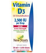 New Roots Herbal Vitamin D3 Oil 2,500 IU per Drop Extra Strength