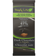 Simply Lite No Sugar Added Dark Chocolate with Almonds
