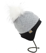 Lox Lion Quilted Winter Hat Grey