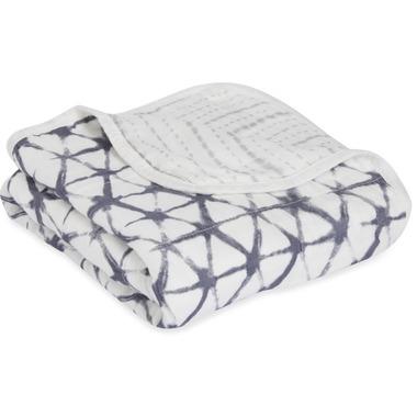 aden + anais Bamboo Stroller Blanket Pebble Shibori