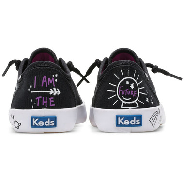 Keds Big Kids Kickstart Messaging Sneaker #Brave Black