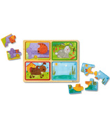 Melissa & Doug Natural Play Wooden Puzzle Playful Pals
