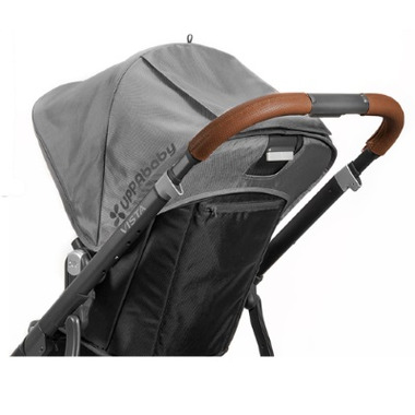 UPPAbaby Vista Leather Handle Bar Cover in Saddle