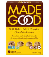 MadeGood Soft Baked Mini Cookies Chocolate Banana