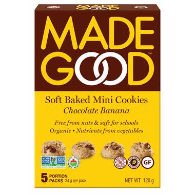 MadeGood Soft Baked Mini Cookies Chocolate Banana