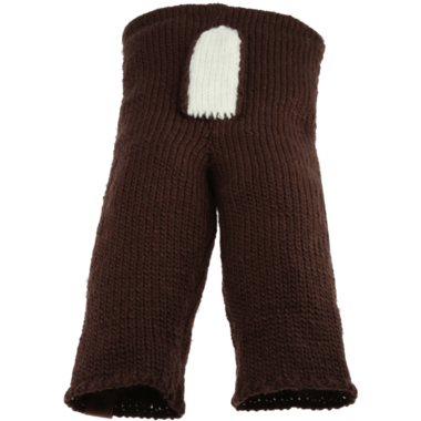Bedford Road Brown Knitted Deer Tail Pants