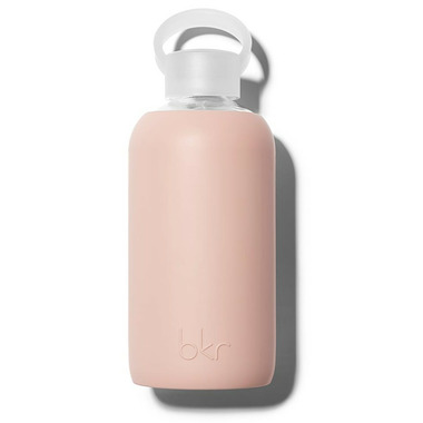 bkr Naked Glass Water Bottle Opaque Light Chocolate Milk Nude