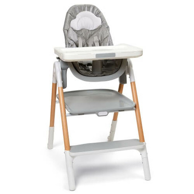 Skip Hop Sit-to-Step High Chair Grey & White