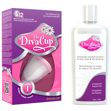 The Diva Cup Model 1 & Wash Bundle by Well