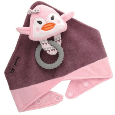 Buddy Bib 3-in-1 Sensory Teething Toy & Bib Penguin