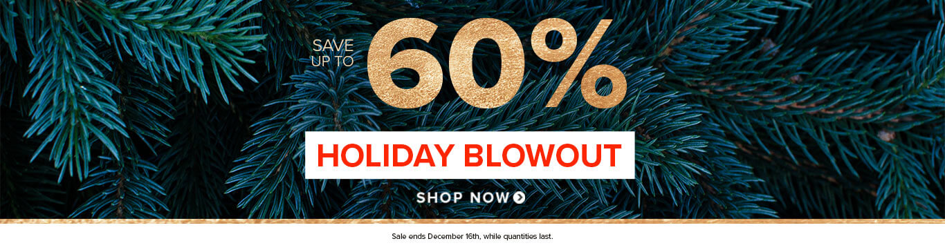 Save up to 50% on Holiday Blowout