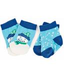 Hatley Little Blue House Baby Socks Blue Cheerful Snowman