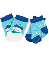 Hatley Little Blue House Baby Socks Blue Cheerful Snowman