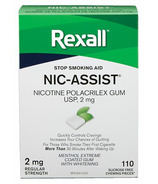 Rexall Nic-Assist Nicotine Gomme Extra Forte 2 mg Menthol Extreme