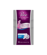 Poise Active Collection Incontinence Pads with Wings Moderate Absorbency
