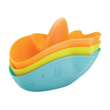 Ubbi Stack and Splash Bath Toys Sharks