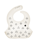 YoungLUX Silicone Bib Pattern Natural Bamboo