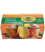 VitaBio Organic Yellow Clingstone Diced Peaches and Pears Cups