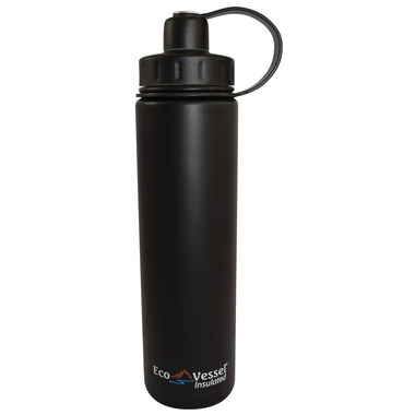 Eco Vessel Boulder Insulated Water Bottle in Black
