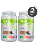 Vega One All-In-One Mocha Nutritional Shake 2 Pack Bundle