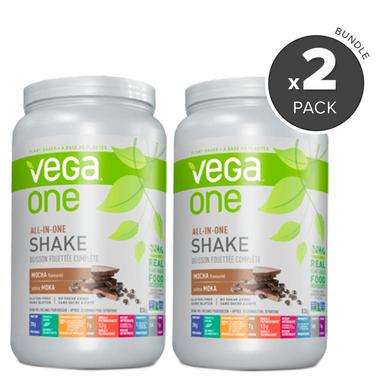 Vega One All-In-One Mocha Nutritional Shake 2 Pack Bundle