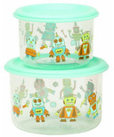 SugarBooger Good Lunch Large Snack Containers Retro Robot