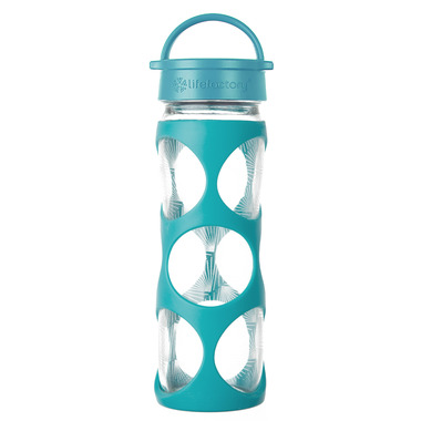 Lifefactory Glass Bottle Surf Ion Classic Cap & Silicone Sleeve