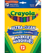 Crayola Ultra-Clean Washable Fine Line Markers Bold Colours