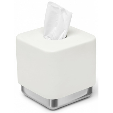 Umbra Junip Tissue Box Chrome and White