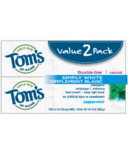 Tom's Of Maine Simply White Peppermint Toothpaste Twin Pack