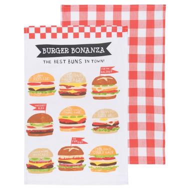 Now Designs Burger Bonanza Tea Towels