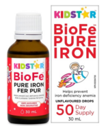 Kidstar Nutrients BioFe Pure Iron Drops Unflavoured