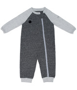 Juddlies Raglan Organic Playsuit Graphite Black