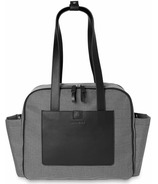Skip Hop Madison Square Diaper Tote Black Mini Grid
