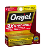 Orajel Severe Toothache & Gum Relief Plus Triple Medicated Gel