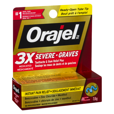 Orajel Severe Toothache & Gum Relief Plus Triple Medicated Gel