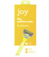 joy Razor Handle + 2 Razor Blade Refills Yellow