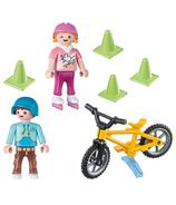 Playmobil Enfants avec Patins et Vélo