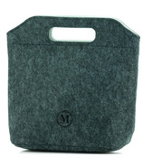 Minimal Eco-Felt Lunch Bag Small Grey