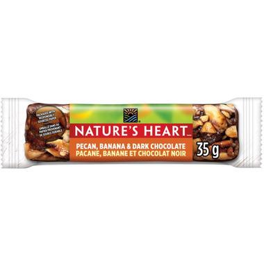 NATURE\'S HEART Pecan Banana & Dark Chocolate Nut Bar
