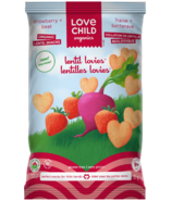 Love Child Organics Lentil Lovies Strawberry + Beet