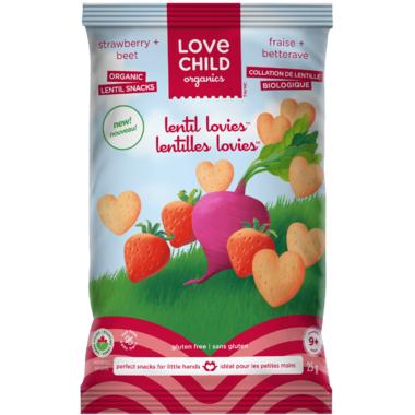 Love Child Organics Lentil Lovies Strawberry + Beet