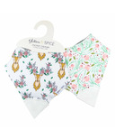 Glitter & Spice Double Side Organic Chew Bib Oh Deer and Flower