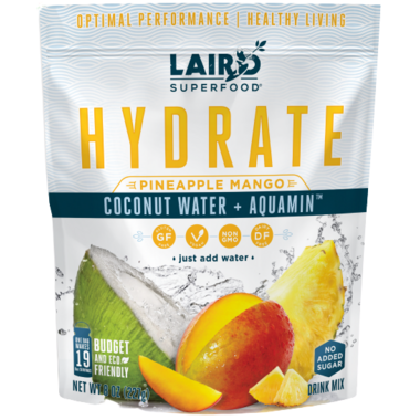 Laird Superfood Hydrate Coconut Water + Aquamin Pineapple Mango