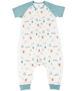 Nest Designs Raglan Bamboo Short Sleeve Sleep Suit Summer Graze 0.6 TOG