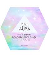 Pure Aura Cosmic Shimmer Hologram Foil Sheet Mask